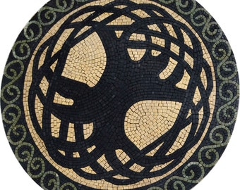 Mosaic Medallion - The Tree Of Knowledge
