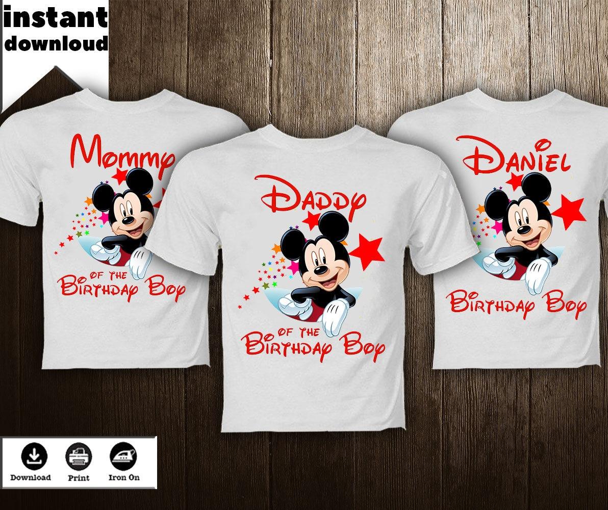 Mickey Mouse Shirt Transfer Diy Image Family Birthday Boy