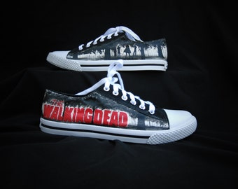 The Walking Dead Michonne and Pet Handpainted Shoes
