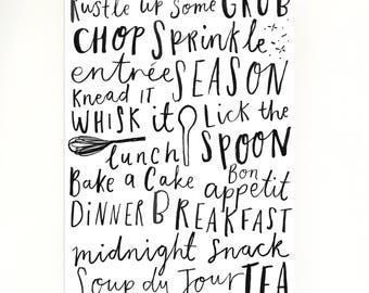 Food/Kitchen/Cooking Typography Print