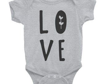 LOVE  - Infant Bodysuit, Hippie Baby Clothes, Baby Girl Clothes, Baby Shower Gift