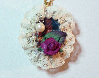 Rose and Lace Locket