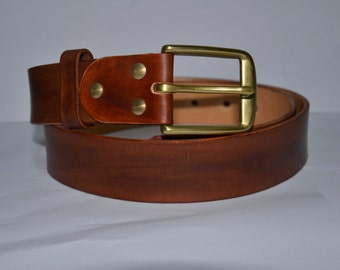Leather Belt, Full Grain Leather Belt, Brown Leather Belt, Men's Leather Belt