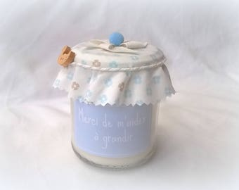 Candle to thank the customizable blue deco nanny