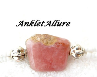 Ankle Bracelet PINK STONE Anklet Beach Proof Agate Anklets for Women