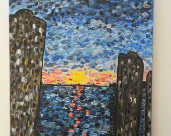 Sunset from Battery Park, New York City