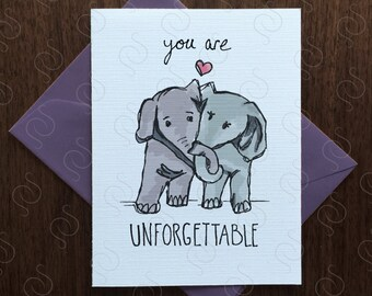 Elephant Card ∙ Sweet Valentine Card ∙ Anniversary Card ∙ Love Card ∙ I Love You Card ∙ Just Because ∙ Card for him ∙ Card for Her