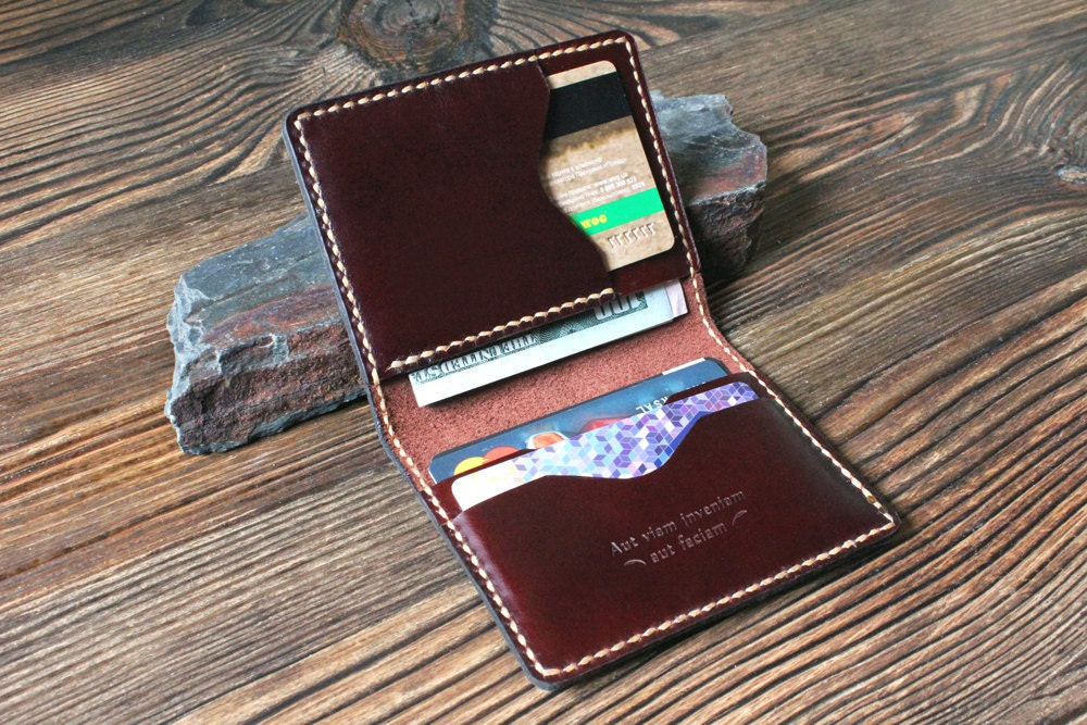 Personalized wallet mens Card holder Leather card wallet