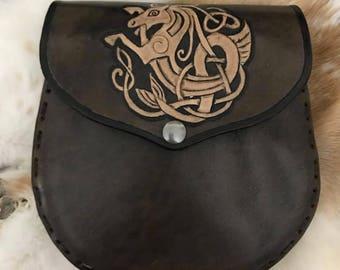 Celtic Kelpie Leather Sporan