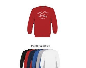 Adventure awaits sweater, adventure sweater, mountain sweater, hiking sweater, kids sweater, wanderlust sweater, toddler sweater, camping