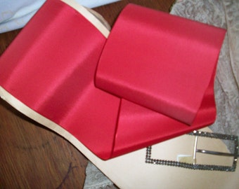 1 yd. of this Stunning Red Geranium taffeta ribbon 4""