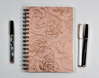 Notebook-Bullet Journal-Bujo-Dot Grid Notebook-Lined Journal-Diary-Bullet Planner-A5 Grey Dot-Spiral Notebook- Grid Paper