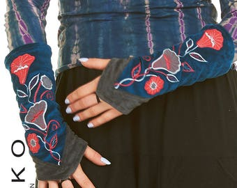 ARM WARMERS, ASSORTED colours, pixie gloves Velvet gloves, wrist warmers, fingerless gloves, HIPPy GLOVEs, steampunk clothing, Fcwwfe