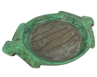 Painted Indian Dough Bowl Catchall