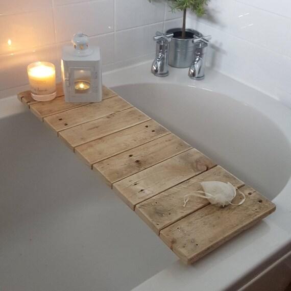 Reclaimed wooden bath tray bath shelf bath caddy bath
