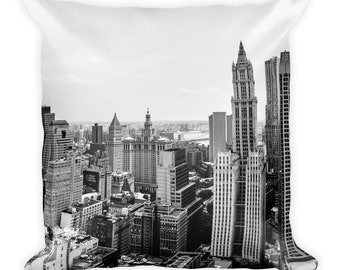 New York City Scape Throw Pillow, 1:100 Limited Edition // cushion // home decor // modern // classy //