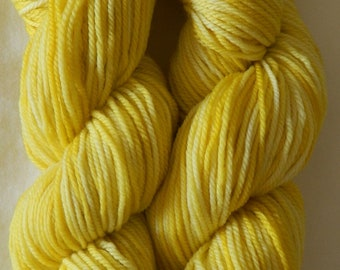 Hand dyed 8 ply / DK yarn 100g 100% wool in Buttercup colourway