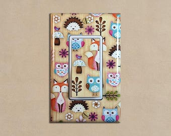 Woodland Animals 1 Creatures - Light Switch Plate Covers Home Decor Outlet