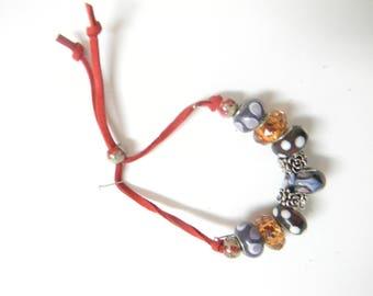 Chamois leather bracelet