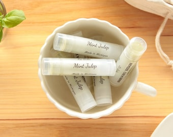 Mint Julep Lip Balm, Natural Lip Balm, Green Lip Balm, Lip Care, Lip Butter, Lip Moisturizer, Beeswax Lip Balm, Made in Michigan