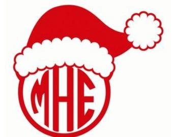 Santa Hat Monogram