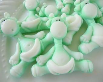 Jungle baby shower favor - 40 Baby Giraffe Soap - green animal baby Sprinkle Favors