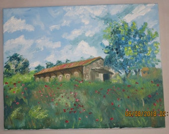 Oil Painting House in Provence