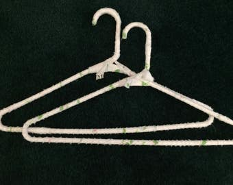 FINAL SALE PRICE!!   Pair Floral Wrapped Covered Hangers