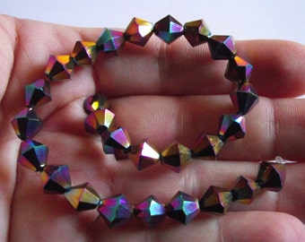 Clear faceted Bicone 8 MM.