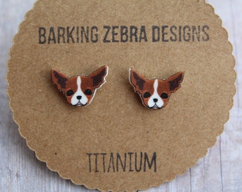 Cute Dog Face Earrings | Tiny Dog Studs | Dog Jewelry | Dog Accessories | Titanium Earrings | Hypoallergenic | Puppy Earrings