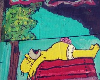 Homer Simpson nap time