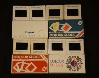 35mm Slides - Sightseeings / Сities of USSR - Collection 844 Vintage Soviet slides 43 sets