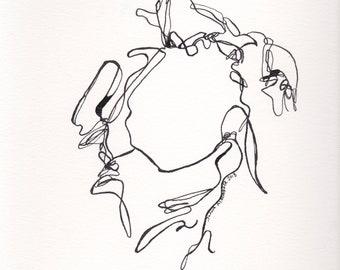 Abstrakte Figur Kunst, abstrakte Figur Malerei, Tusche Zeichnung, abstrakte Figur V April 2018 Linie,
