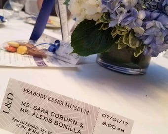 Place Card - Admissions Ticket Mock-Up - Wedding - Parties
