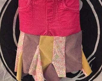 kids skirt upcycled skirt hippie boho size 3T
