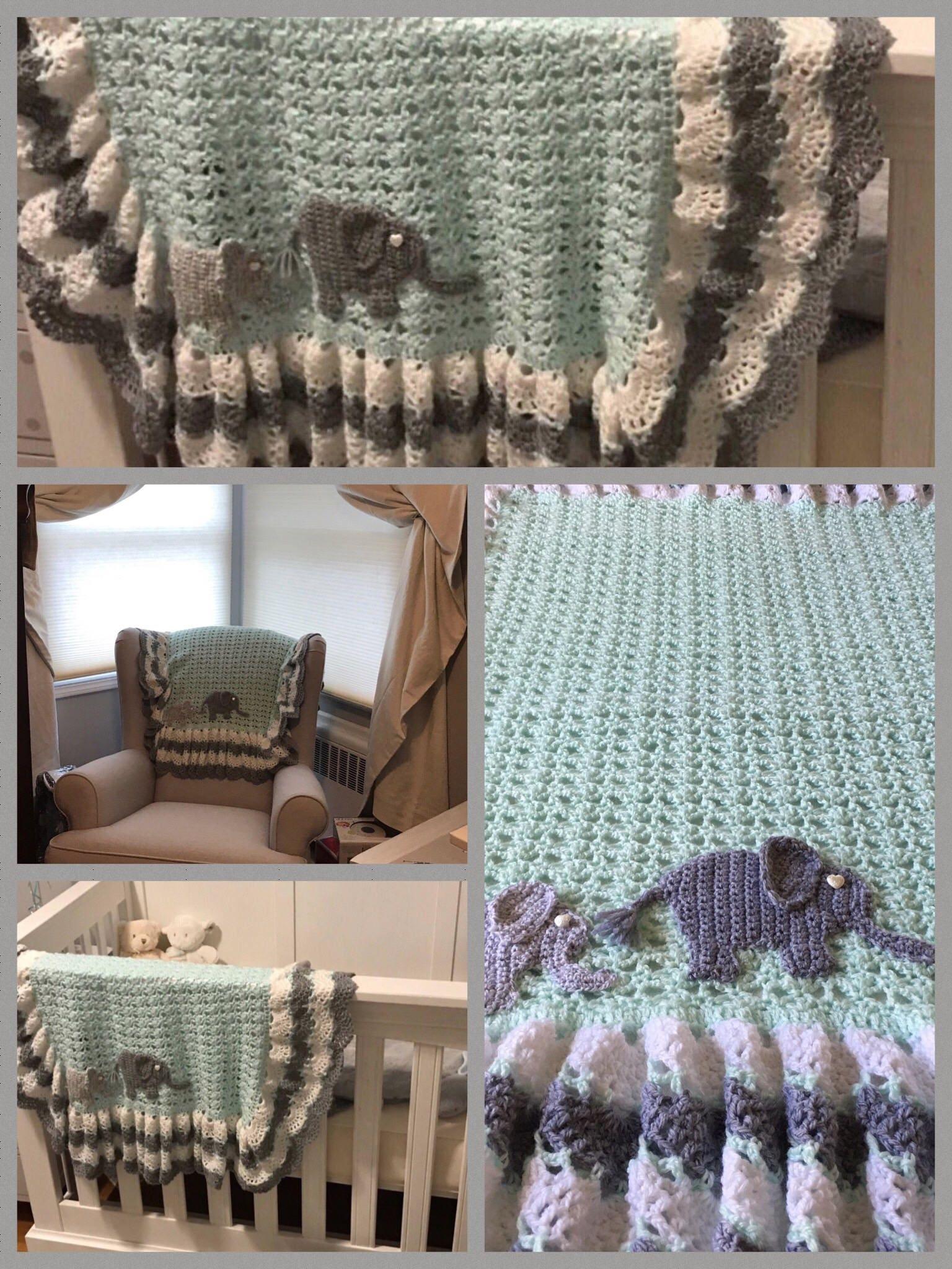 Crochet baby elephant blanket,custom hand made,Zoo,Safari jungle ...