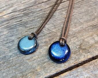 Ceramic pendant – Little round pottery necklace jewel