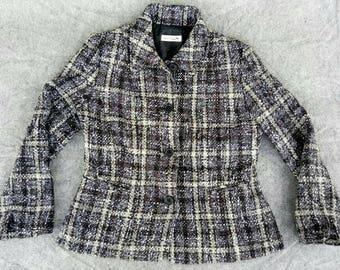 Vtg Womens LONGCHAMP Wool Jacket Blazer