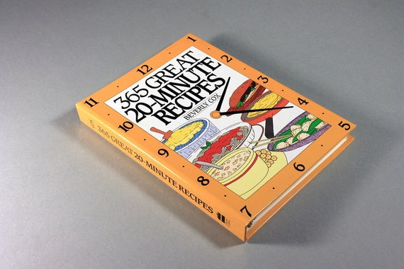 Cookbook, 365 Great 20-Minute Recipes, Beverly Cox, Spiral-Bound Hardcover Cookbook, 1995 Cookbook