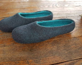 felted slippers, home shoes, women slippers, Woolen clogs, natural wool, felt slippers