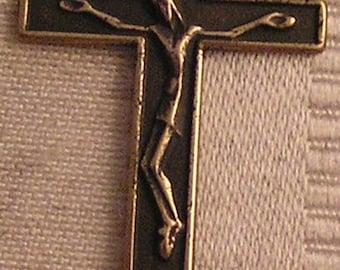 Gothic | Crucifix | Austria | Sterling Silver | Bronze | Antique | Vintage | Catholic | Necklace | Cross | Pendant | Jewelry 344