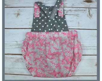 romper, summer romper, shorts, overalls, 6 months, small flowers