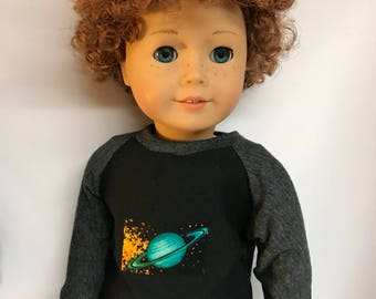 Astronomy shirt for 18 inch dolls planets astronomers astronaut 18 inch boy doll clothes