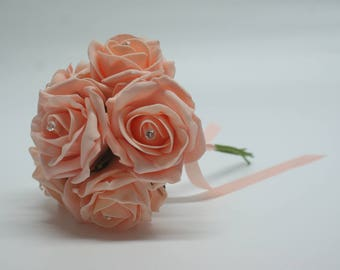 Wedding Posy - Perfect for Bridesmaids ( Peach )