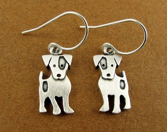 Jack Russell terrier earrings