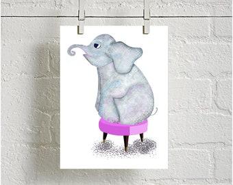 Elephant Digital downloadable Print Animal Print, Nursery Print, kids room decor printable Nursery, baby shower gift, baby decor