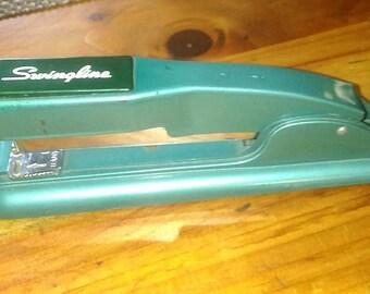Vintage Swingline Stapler in Teal