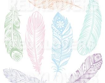 SVG DXF feather southwest ethnic Digital Download files svg , ai, psd, png,  pdf tshirt designs