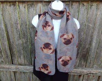 Pug Fashion Scarf