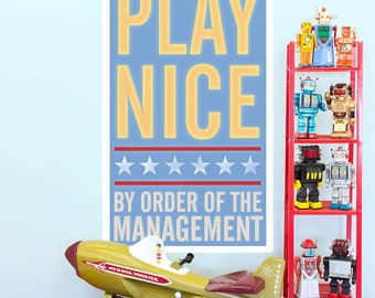 Play Nice Order of Management Wall Decal - #64625
